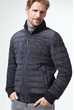 Stepp-Lederjacke Manlio in Navy