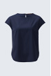 Bluse in Navy