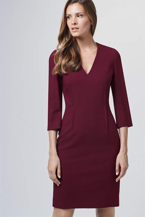 Business-Kleid in Bordeaux