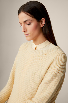 Cashmere-Pullover in Vanille