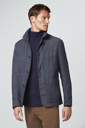 Work-Wear-Jacket Ariano in Denim Blau