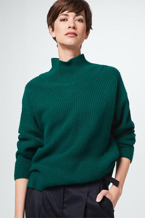 Kaschmir-Pullover in Dunkelgrün