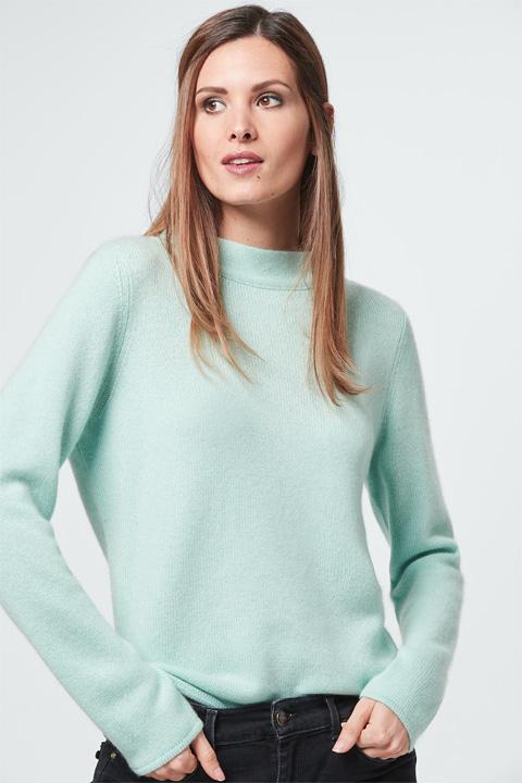 Cashmere-Pullover in Mint-Grün