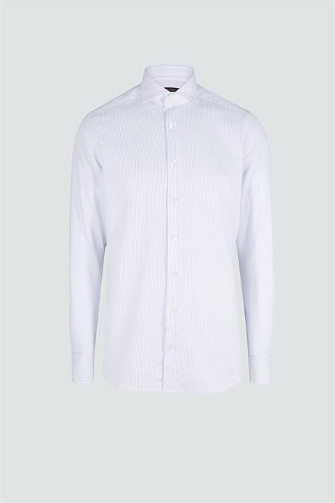 Interessant: Baumwoll-Hemd Trivo Weiß-Navy gemustert Deal
