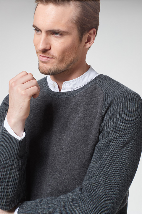 Pullover Aaron in Dunkelgrau