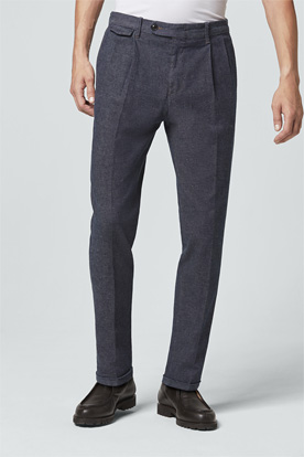 Baumwoll-Stretch-Hose Sapo in Denim Blau