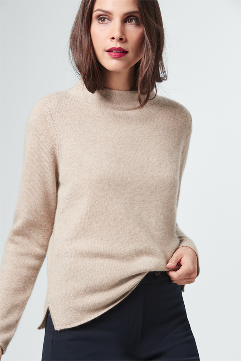 Cashmere-Pullover in Beige