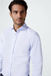Smart-Shirt Lano in Hellblau gemustert