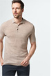 Strick-Polo-Shirt Lelio in Beige