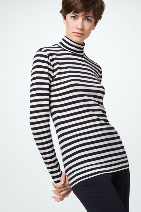 Shirt in Navy-Weiß gestreift