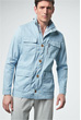 Leinen-Fieldjacket Antonio in Hellblau