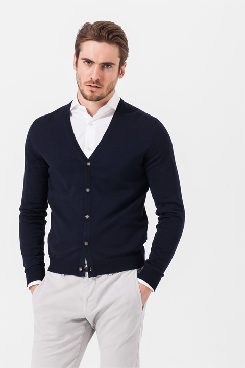 Strickjacke Marcello in Marine