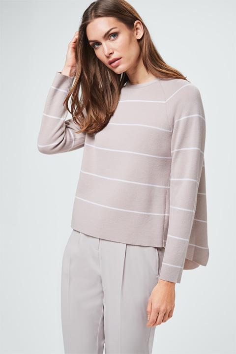 Pullover in Beige gestreift