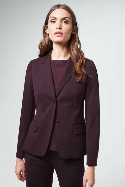 Jersey-Blazer in Bordeaux
