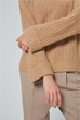 Pullover mit Cashmere in Camel