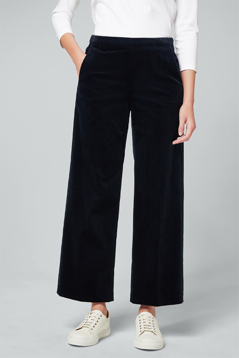 Cord-Culotte in Navy