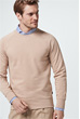 Rundhals-Sweater Ebbo in Camel