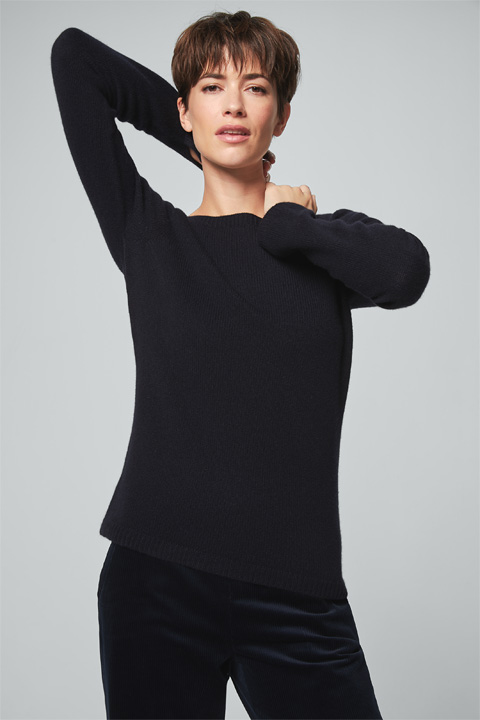 Cashmere-Pullover in Navy