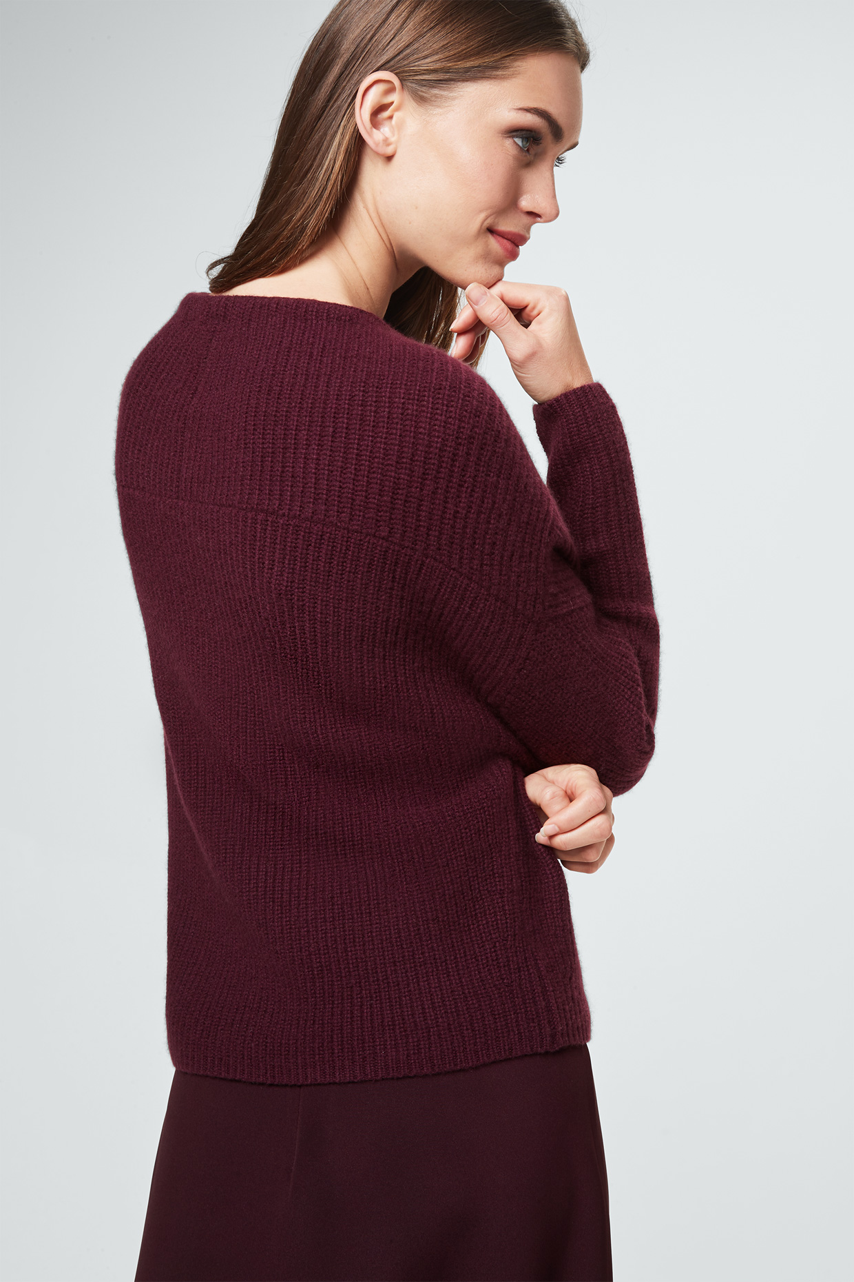 Cashmere Pullover in Bordeaux