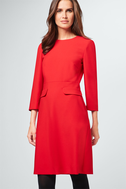 Etui-Kleid in Rot