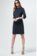 Popeline-Kleid in Navy