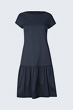 Baumwollstretch-Kleid in Navy