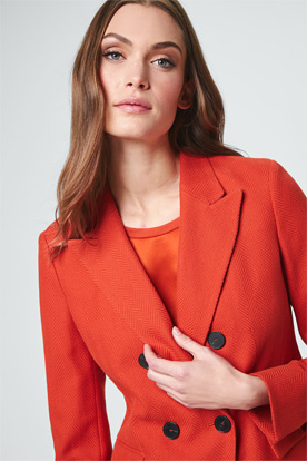 Doppelreiher-Blazer in Orange