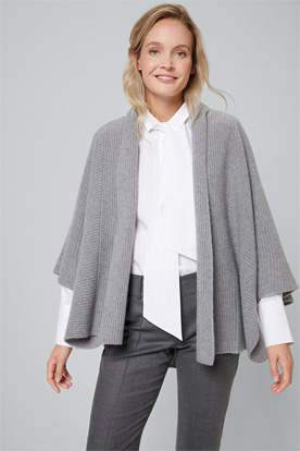 Cashmere-Cape in Grau