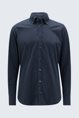 Button-Down Hemd Luno in Dunkelblau