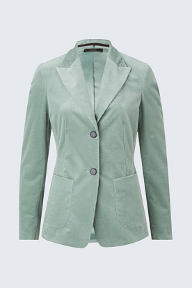 Cord-Blazer in Mint-Grün