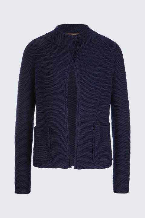 Strick-Cardigan in Navy