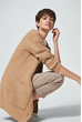Cardigan mit Cashmere in Camel