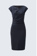 Drapé-Kleid in Navy