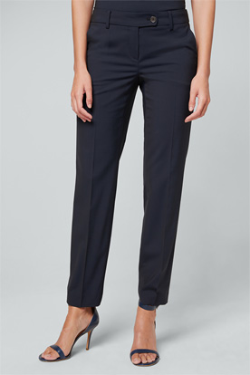 Schurwoll-Stretch-Hose in Navy
