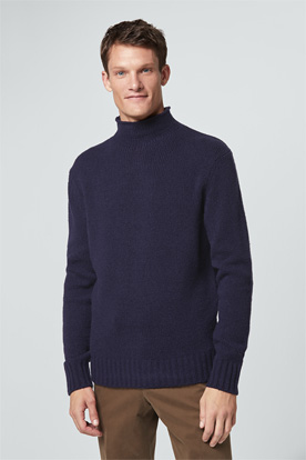 Turtleneck-Pullover Dumo in Navy