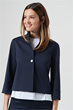 Kurz-Blazer in Navy