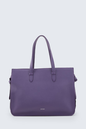 Leder-Shopper Nora in Lila