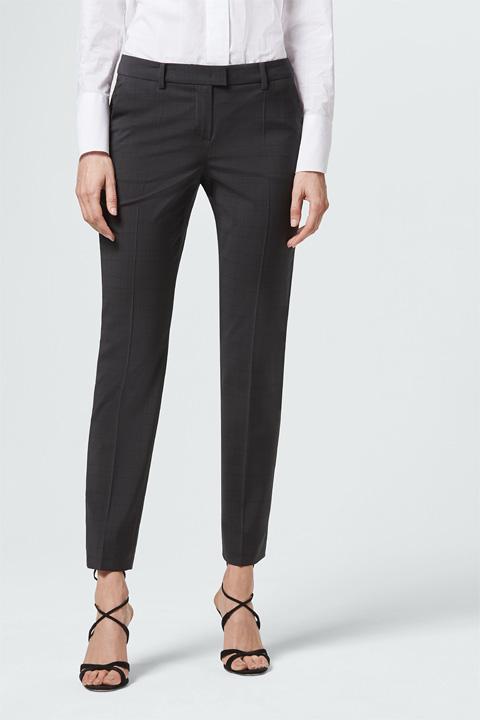 Anzug-Hose in Graphit gemustert