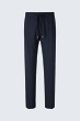Joggpant Fero aus Schurwoll-Stretch in Navy