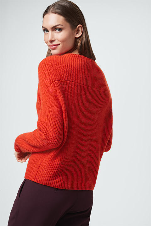 Cashmere-Pullover in Orange