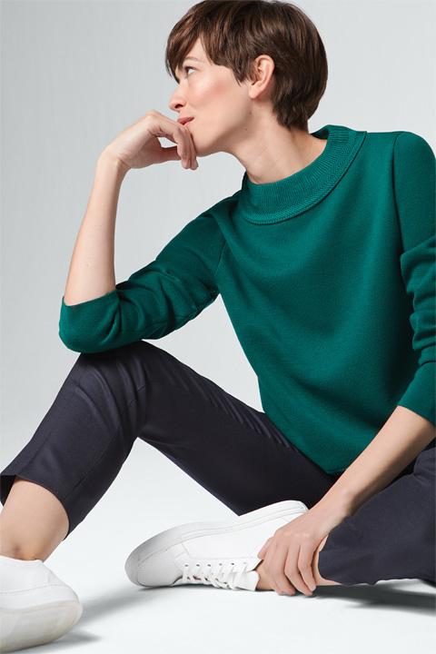 Pullover in Grün