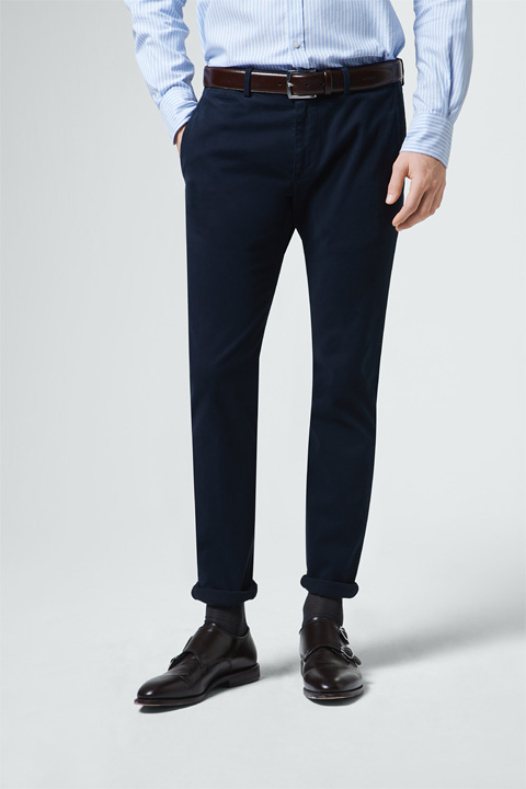 Strukturierte Chino Cino in Navy