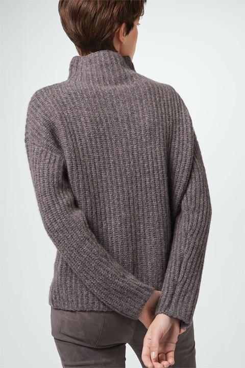 Pullover mit Kaschmir in Taupe