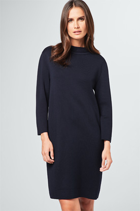 Strick-Kleid in Navy