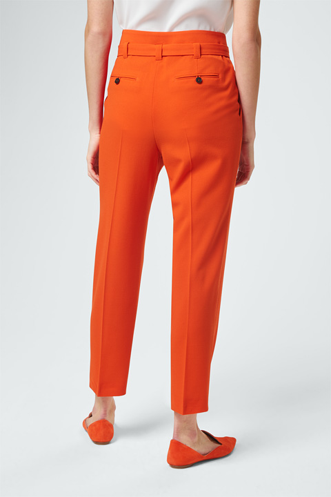 Bundfaltenhose in Orange