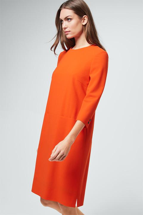 Crêpe-Kleid in Orange