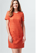 Bouclé-Kleid in Orange