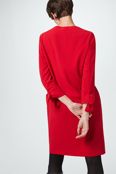 Crêpe-Kleid in Rot
