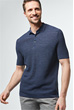 Strick-Polo-Shirt Lelio in Navy