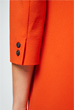 Crêpe-Kleid in Orange